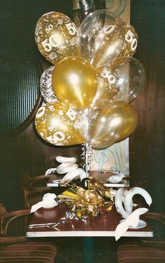 50th wedding anniversary centerpieces balloons for 50th anniversary