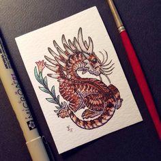 "250 Likes, 8 Comments - Emma Lazauski (@emmalazauski) on Instagram: ""Tiger Drake from last night's steam! . . . #Smaugust #dragon #pittsburghartist #monster #fantasyart…"""
