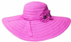 Sakkas Women's Ribbon Paper Straw UPF 50  Wide Brim Floppy Hat *** For more information, visit now : Best Travel accessories for women