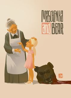 Machenka and bear - Otto Schmidt Otto Schmidt, Character Sketches, Character Design References, Character Illustration, Animation Character, People Illustration, Illustration Art, Art Illustrations, Drawing Cartoon Faces