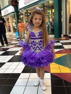 National High Glitz Pageant Beauty Dress made by Chrystal Bells
