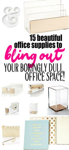 I'm such a sucker for beautiful things and, when it comes to the home office, I'm a LOLLIPOP for the beautiful office supplies! Here are 15 of my favorite.