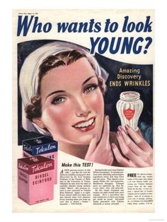 vintage advertisement age beauty