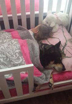 A Mom Goes To Check On Her Baby ~ And Finds Their Rescued Dog ~ Napping With…