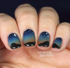love these nails - looks like a country night sky...