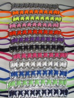 Recycled Soda Pop Can Top Pull Tab Bracelet