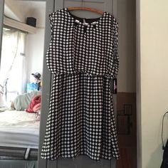Urban love XL dress Sleeveless black and white checkered dress with embellished neck line. Urban love Dresses Midi