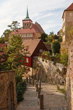 Bautzen, a hill-top town in Eastern Saxony, Germany