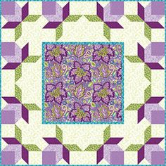 Double Peony Free Pattern  Download-Connecting Thread-This blooming beauty is a great way to dress up any table in your home. Place it diagonally on a dining room or bedside table and place a vase of flowers on the center square for a warm and welcoming touch. With no Y-seams, piecing isn't as difficult as you might think.