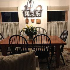lisakayramp added a photo of their purchase Buffalo Plaid Curtains, Gingham Curtains, Buffalo Check Curtains, Lace Curtains, Farmhouse Dining Room Table, Farmhouse Curtains, Nursery Curtains, Black Linen, Grey And White