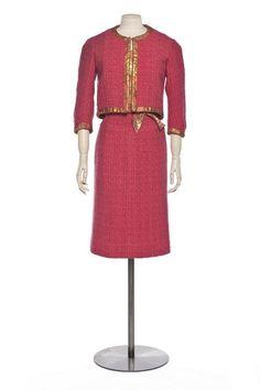 Chanel , fashion house, Paris 1961 , autumn-winter collection (haute couture) Gabrielle Chanel , designer Bucol , textile manufacturer Burg , textile manufacturer