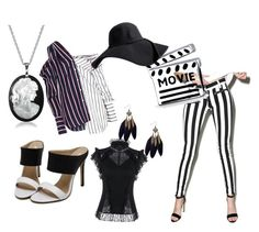 """Black & white"" by wearthis-1 on Polyvore featuring Pistola, Bling Jewelry and Monse"