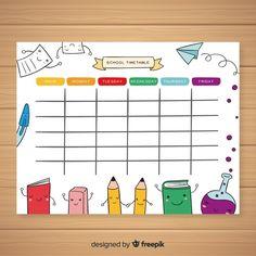 Best School Timetable Template Ideas ⋆ The Best Printable Calendar Collection School Schedule Printable, Daily Schedule Template, Daily Planner Printable, Weekly Schedule, School Planner, Student Planner, Diy Calendar, School Calendar, Attendance Chart
