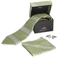 Kia Kaha Mens Boxed Mint Tie Set Mint Tie, Tie Matching, Maori Designs, Tie Set, Print Logo, New Zealand, Cufflinks, Gifts, Branding