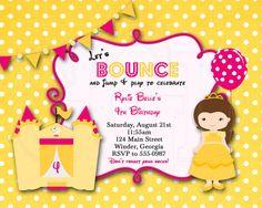 Belle inspired Birthday Invitation-Digital by graciegirldesigns77