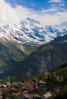 Village in the Swiss Alps.