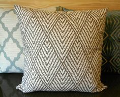 may order for my couch: Tan chevron diamond decorative throw pillow cover. Etsy.