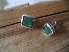 Ohrringe Silber 925 Sterlingsilber Smaragd Stecker Studs grün H25