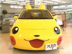 Pokemon pikachu car- So cute! Pikachu Pikachu, Cristiano Ronaldo, Vespa, Funny Looking Cars, Hello Kitty Car, Pokemon Photo, Girly Car, Weird Cars, Cute Japanese