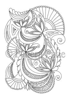 Adult Colouring Page Fans Abstract