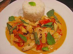 Schnelles Thai - Curry mit Huhn, Paprika und feiner Erdnussnote (Rezept mit Bild) | Chefkoch.de
