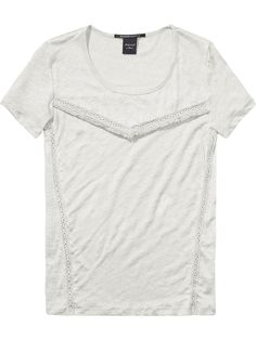 Linen T-Shirt|Jersey s/s tee's & tops|Woman Clothing at Scotch & Soda
