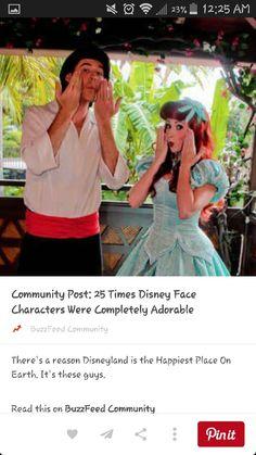 Ariel making a fish face