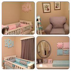 Twins nursery shared by www.twinznursingpillow.com