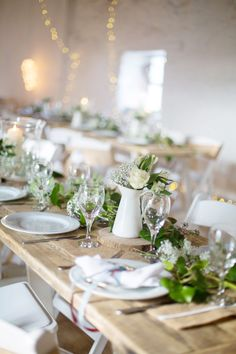 Beautiful table decor at The Old Barn, Clovelly. Bespoke venue offered by North Devon Wedding. Check availability to hire: http://www.northdevonwedding.com/old-barn.ashx