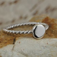 e5747de8a sterling silver twisted rope band topped off with shine. Sterling Silver  Necklaces, Silver Rings