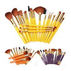 2017 Hot 19pcs Professional Makeup Brushes Soft Hair  Make Up Brushes Foundation Powder Brush set   Mar30