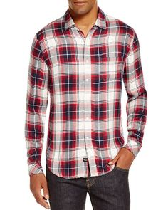 Rails Lennox Plaid Regular Fit Button Down Shirt