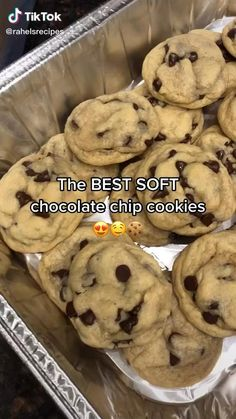 Easy Baking Recipes, Cookie Recipes, Dessert Recipes, Healthy Recipes, Desserts, Soft Chocolate Chip Cookies, Dessert Chocolate, Chocolate Chips, Chocolate Bomb