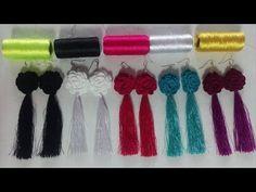aretes en crochet/crochet earrings - YouTube