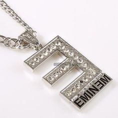 New-The-best-RAPPER-E-shape-Eminem-Crystal-Necklace-Hip-Hop-Pendant-Necklace