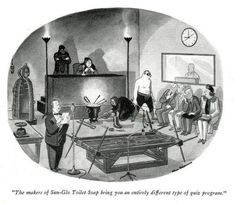 In-Quiz-ition…an entirely different type of quiz show program. - Charles Addams cartoon, New Yorker, Addams Family Quotes, Addams Family Cartoon, Addams Family Values, Los Addams, Original Addams Family, Dark Humor Comics, Creepy Art, Creepy Stuff, Scary