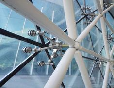 Curtain Wall Detail, Glass Curtain Wall, Tower Design, Glass Facades, Glass Roof, Mud, Canopy, Ceiling, China