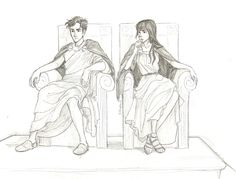 Percy and Reyna by Burdge-Bug