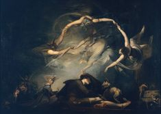 Henry Fuseli 'The Shepherd's Dream, from 'Paradise Lost'', 1793. | Inspired by John Milton's epic, 'Paradise Lost'.