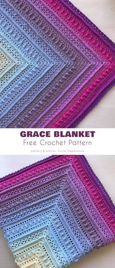 Grace Blanket Crochet Baby Blanket Free Pattern, Baby Afghan Crochet, Mittens Pattern, Crochet Baby Booties, Crochet Shawl, Crochet Yarn, Free Crochet, Baby Afghans, Crochet Bedspread Pattern