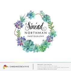 Premade Logo and Watermarks with succulent by ChromoCreative