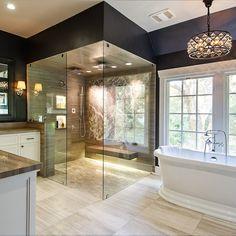 home_decor - 29 Exquisite Stone Bathroom Design Dream Bathrooms, Beautiful Bathrooms, Luxurious Bathrooms, Glamorous Bathroom, Marble Bathrooms, Modern Bathrooms, Bathroom Mirrors, Small Bathrooms, Bathroom Cabinets