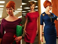 I dont know why... but I am in LOVE with this character from mad men, Joan.    Her wardrobe is just so strong!!!