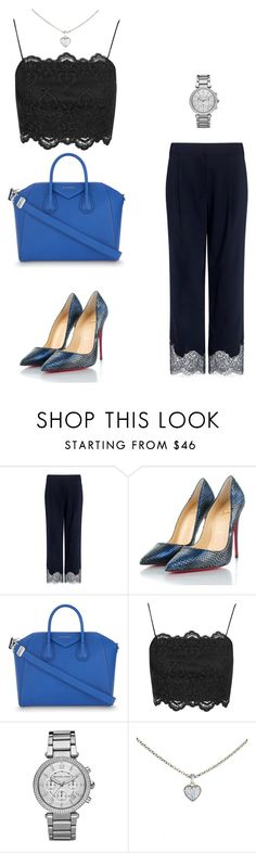 """""""Untitled #438"""" by nadiralorencia on Polyvore featuring TIBI, Christian Louboutin, Givenchy, Topshop, Michael Kors and Cartier"""
