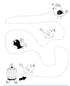 bird trace worksheet | Crafts and Worksheets for Preschool,Toddler and Kindergarten