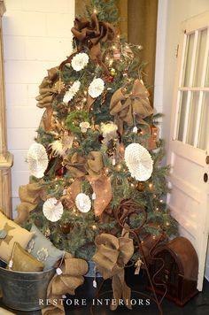 yay christma, burlap christmas, christma tree, burlap bows, christmas trees