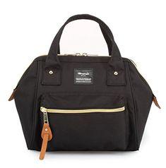 Himawari Women's Soft Top Handle Bag Tote Bags With Canvas Handbags Backpack (Black)