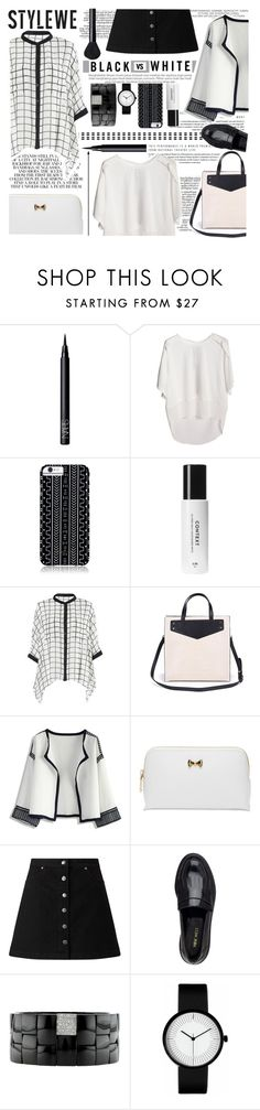 """Black vs White"" by paulina-bv ❤ liked on Polyvore featuring NARS Cosmetics, Savannah Hayes, Chicwish, Ted Baker, Miss Selfridge, Nine West and Roberto Demeglio"