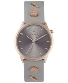 333dee564 Thom Olson Women's Taupe Leather Strap Watch 34mm & Reviews - Watches -  Jewelry & Watches - Macy's