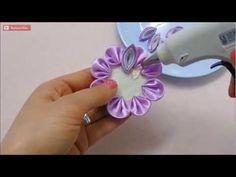 Tutorial Membuat Kanzashi Flower 1 - YouTube